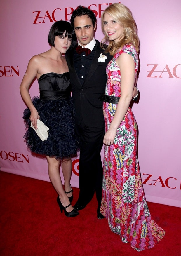 Selma Blair, Zac Posen, and Claire Danes attend the Zac Posen for Target Launch Party in New York City, on April 15, 2010
