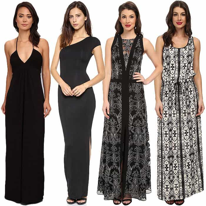 Maxi dresses with lengthening details