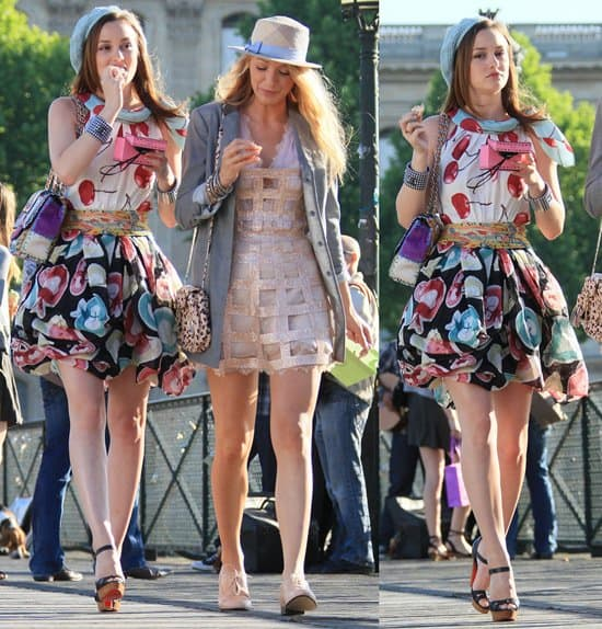 Blake Lively and Leighton Meester Dress Fall in Gossip Girl