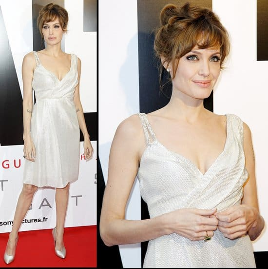 """Angelina Jolie attends the premiere for """"Salt"""" at Le Grand Rex"""