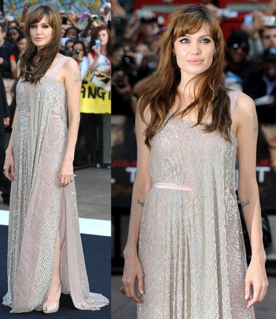 Angelina Jolie Salt attends the UK premiere of Salt at Empire Leicester Square