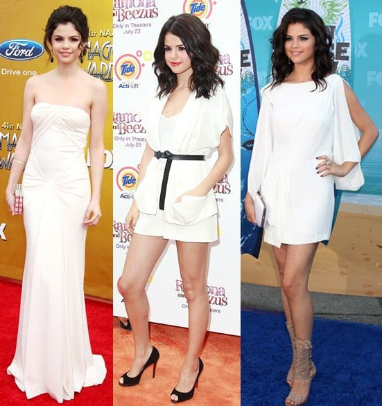 Selena Gomez at the 41st NAACP Image awards on Feb 25, 2010 / at the 'Ramona and Beezus' premiere on July 20, 2010 / at the 2010 Teen Choice Awards, August 8 on 2010
