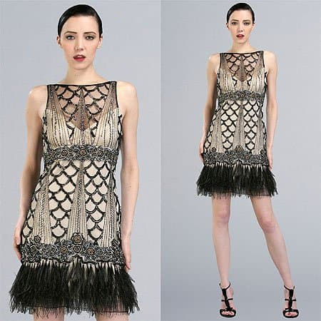 Sue Wong Modern Flapper Cocktail Dress