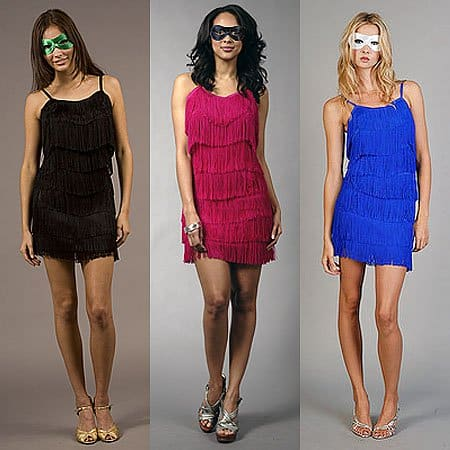 Flapper Dress with Mask in different colors