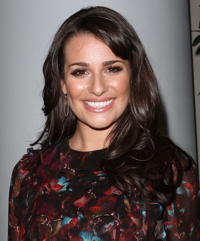 Lea Michele arrives on the red carpet of TV Guide magazine's 2010 Hot List party in Hollywood on November 8, 2010