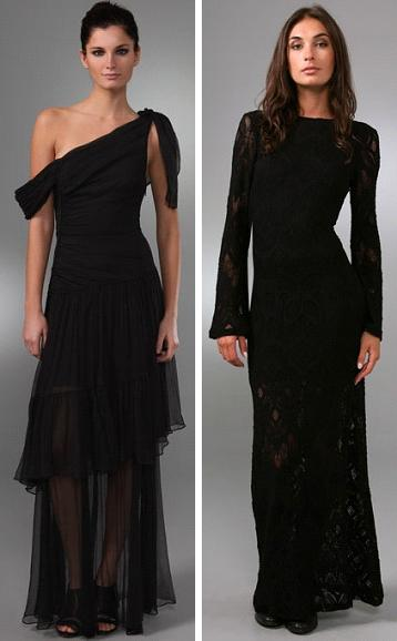 Catherine Malandrino Off Shoulder Tiered Gown and Nightcap Clothing Long Priscilla Dress