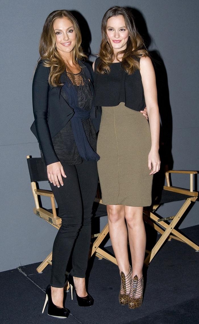 Lookalike actresses Minka Kelly and Leighton Meester