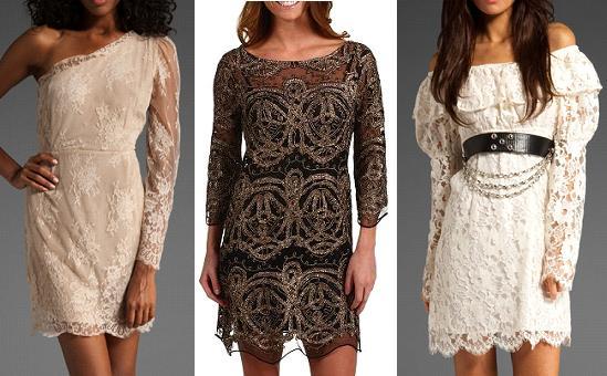 3 vintage lace dresses