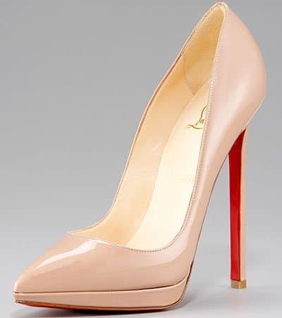 Christian Louboutin's Pigalle Plato patent leather pumps
