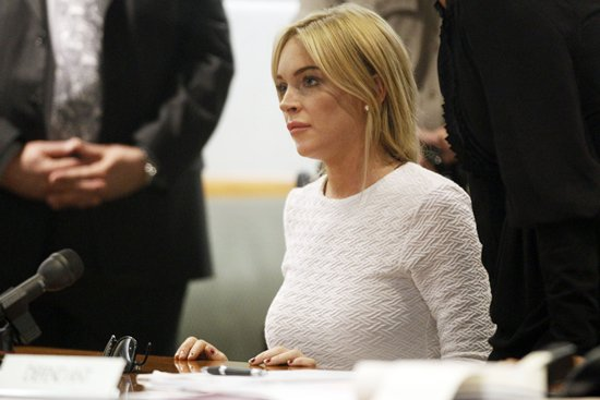 Lindsay Lohan wore a Kimberly Ovitz dress to her court appearance