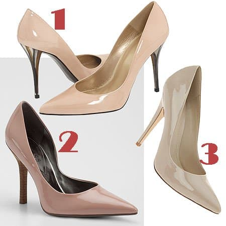 3 women's nude pumps