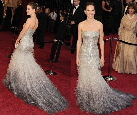 Actress Hilary Swank arrives at the 83rd Annual Academy Awards