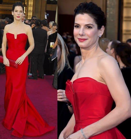 Actress Sandra Bullock arrives at the 83rd Annual Academy Awards