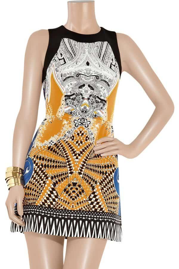 Etro Printed Silk Mini Dress