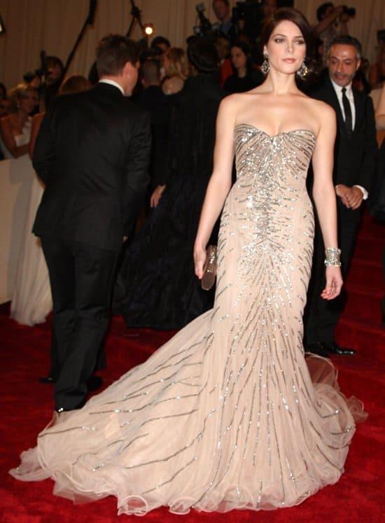 "Ashley Greene in Donna Karan attends the ""Alexander McQueen: Savage Beauty"" Costume Institute Gala"