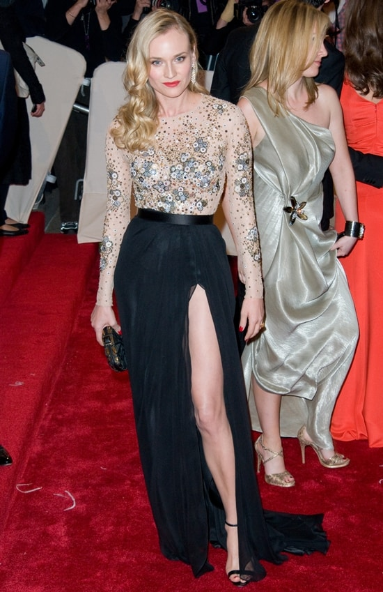 """Diane Kruger in Jason Wu attends the """"Alexander McQueen: Savage Beauty"""" Costume Institute Gala"""