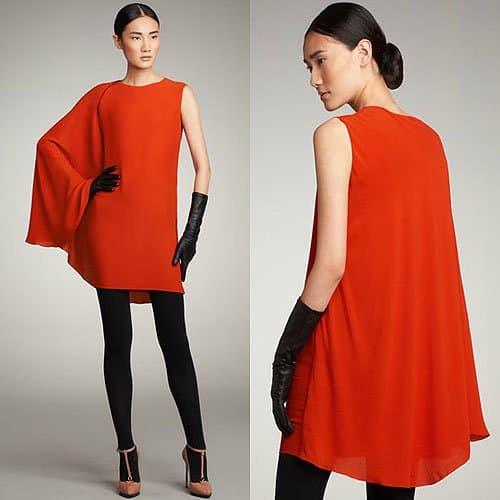 Lanvin cape sleeve dress