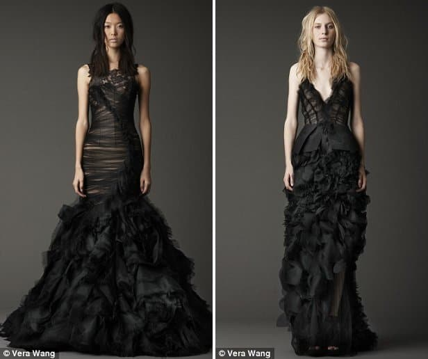 Vera Wang's Black Bridal Gowns for Fall