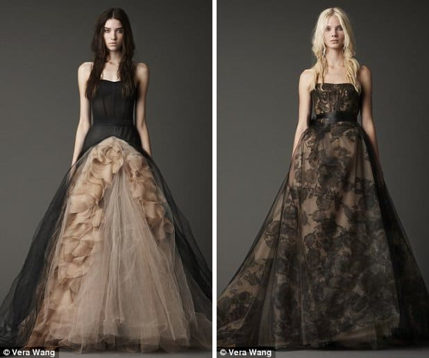 Vera Wang's Black Bridal Gowns for Fall 2012