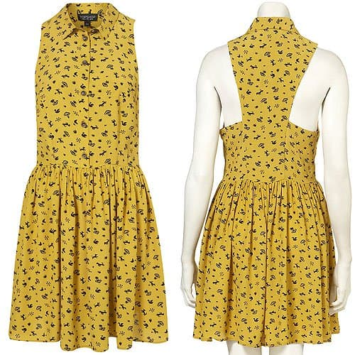 Topshop Daisy Dogs Shirtdress