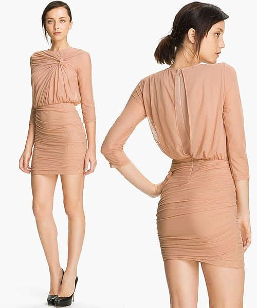 Elizabeth and James 'Larissa' Knot Detail Dress in Blush