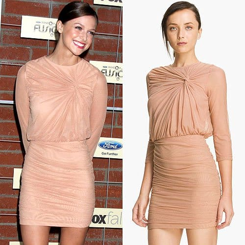 814c05e137 Melissa Benoist is a Blushing Babe in Elizabeth and James Dress