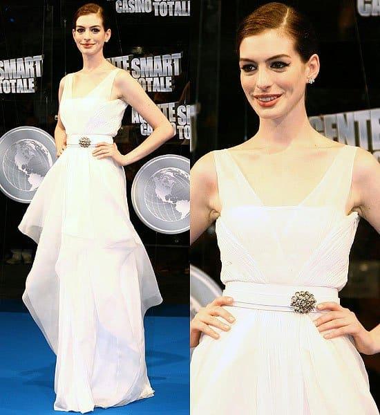 Anne Hathaway Get Smart: Anne Hathaway's 10 Most Wowing Wedding-Worthy White Dresses