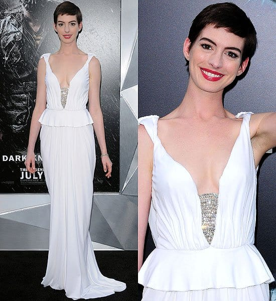 Anne Hathaway Dark Knight Rises: Anne Hathaway's 10 Most Wowing Wedding-Worthy White Dresses