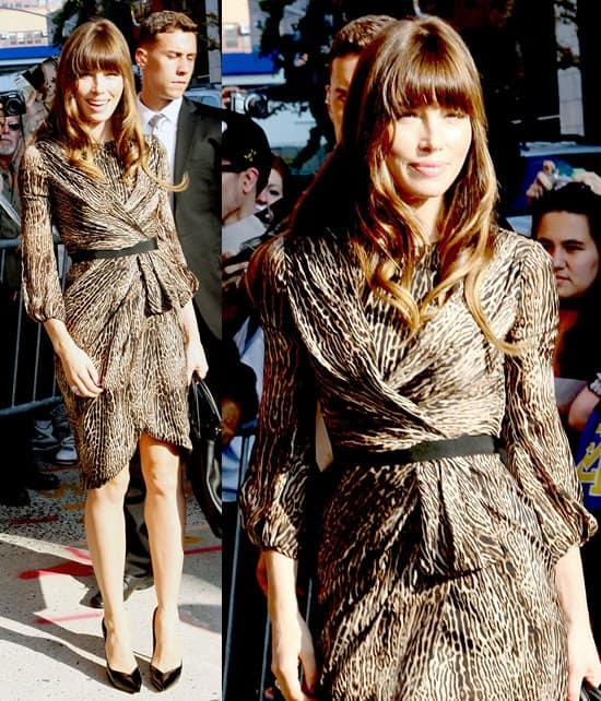 """Jessica Biel at Comedy Central Studio for """"The Daily Show with Jon Stewart"""" in New York City on August 2, 2012"""