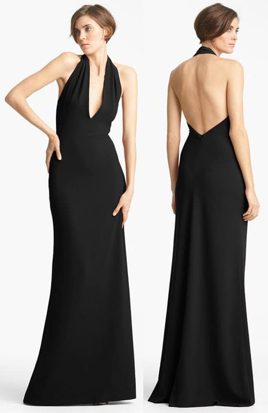 Yigal Azrouel Crepe Halter Gown