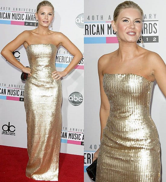Eliza Cuthbert in an Editions by Georges Chakra Spring 2011 gown at the 2012 American Music Awards