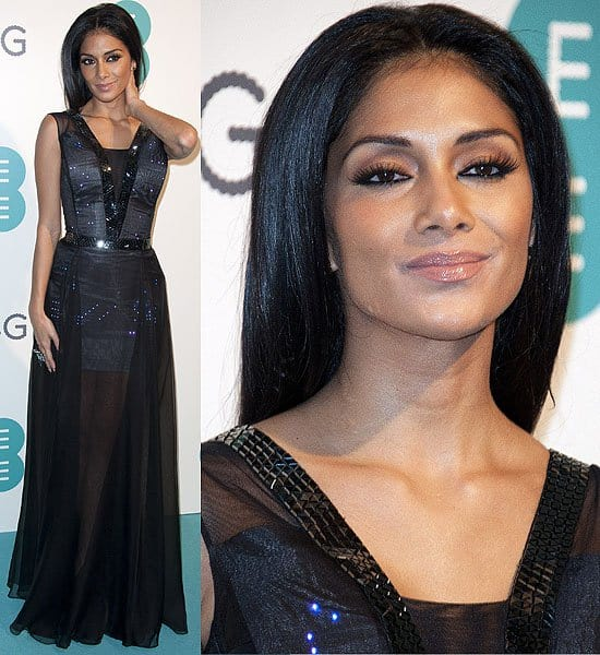 Nicole Scherzinger wearing a Twitter dress at the Everything Everywhere launch party