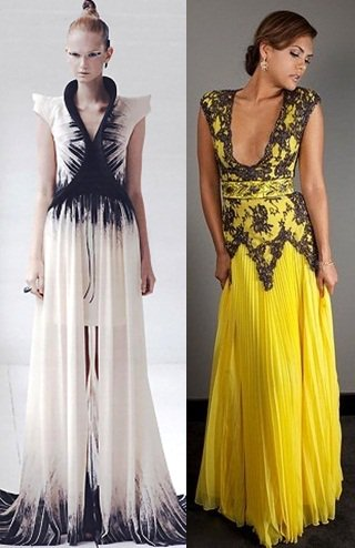 ILJA (Visser) Fall 2012 Gown / Chagoury Couture Spring 2012 Gown