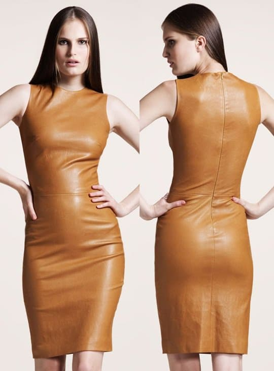 The Row Sleeveless Stretch Leather Dress