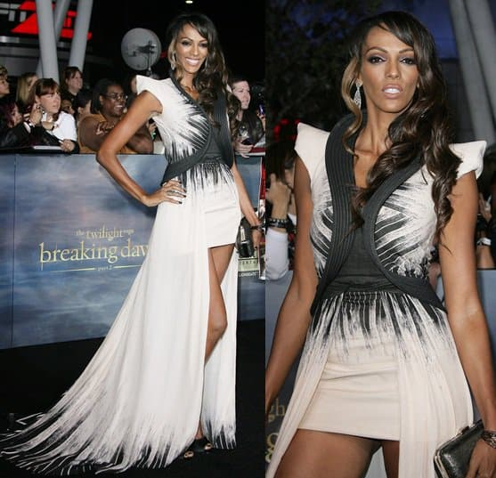 Actress Judith Shekoni attends the premiere of 'The Twilight Saga: Breaking Dawn - Part 2' at Nokia Theatre L.A. Live on November 12, 2012
