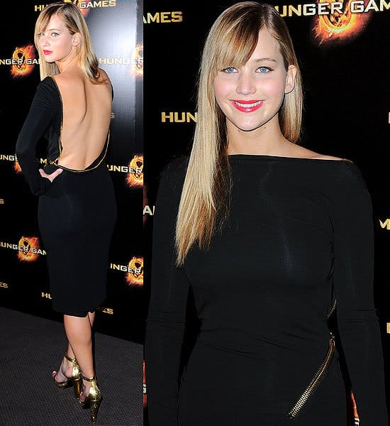 Jennifer Lawrence attends the Paris premiere of 'The Hunger Games' at Gaumont Marignan in Paris, France on March 15, 2012