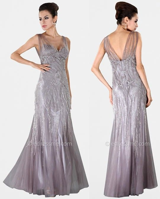 Mignon Sheer Illusion Evening Gown