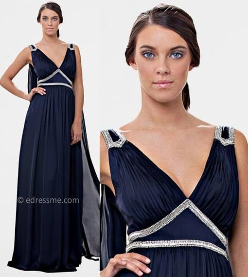 JS Collection flowy evening gown