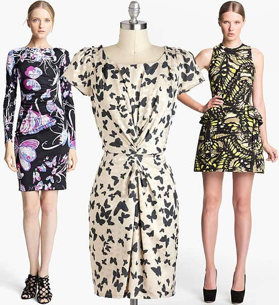 Butterfly print dresses