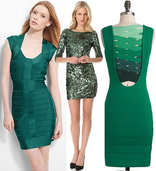 Paint-the-town-green dresses