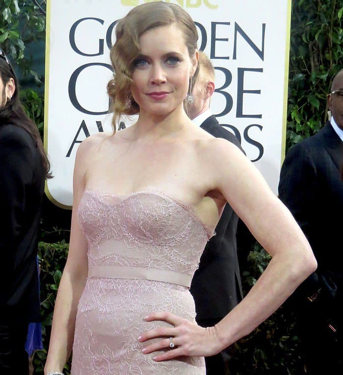 Amy Adams at the 70th Annual Golden Globe Awards held at the Beverly Hilton Hotel