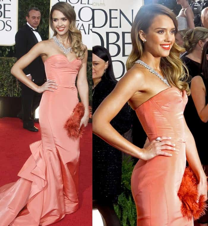 Jessica Alba at the 70th Annual Golden Globe Awards held at the Beverly Hilton Hotel