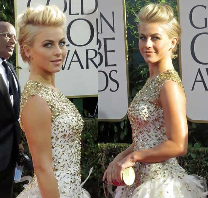 Julianne Hough at the 70th Annual Golden Globe Awards held at the Beverly Hilton Hotel