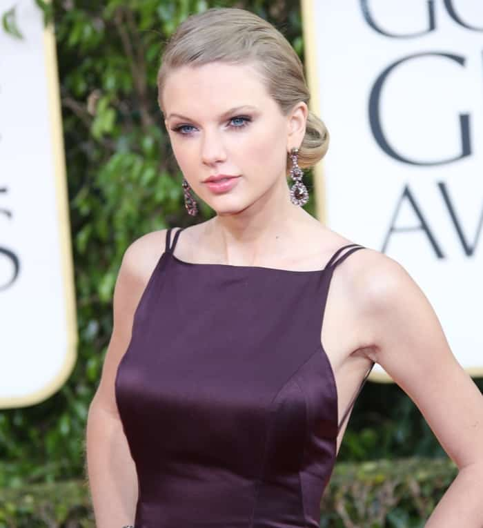 Taylor Swift at the 70th Annual Golden Globe Awards held at the Beverly Hilton Hotel