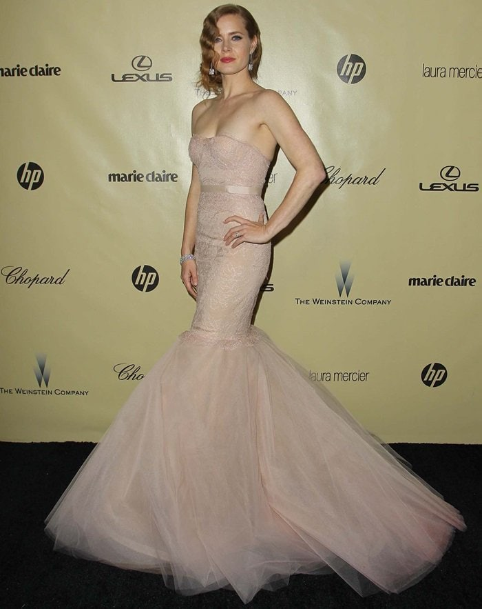 Actress Amy Adams attends The Weinstein Company's 2013 Golden Globe Awards after party presented by Chopard, HP, Laura Mercier, Lexus, Marie Claire, and Yucaipa Films held at The Old Trader Vic's at The Beverly Hilton Hotel on January 13, 2013, in Beverly Hills, California