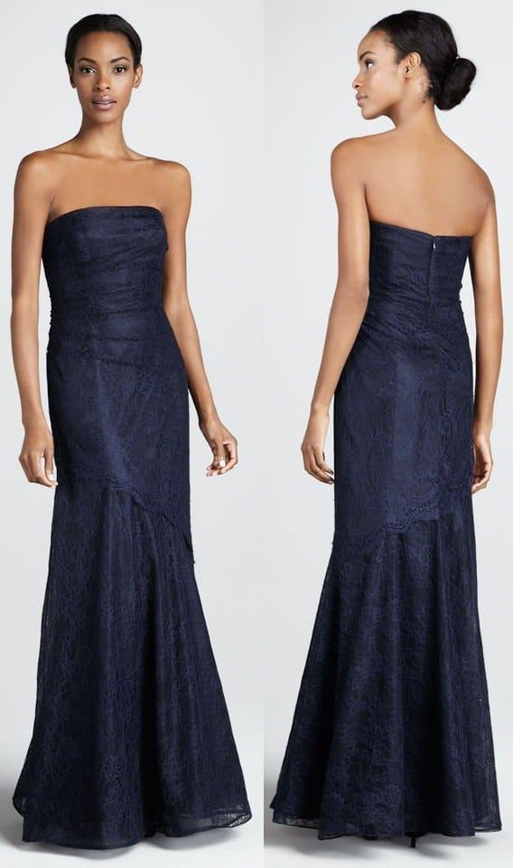 rickie freeman for teri jon lace strapless gown