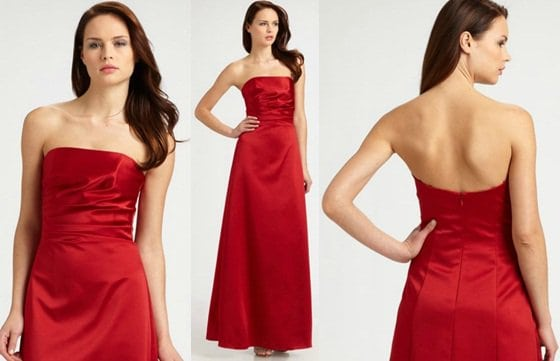 ABS Strapless Ruched Dress