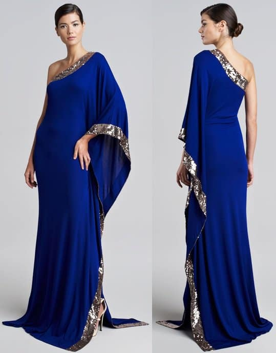 roberto cavalli one shoulder gown-horz