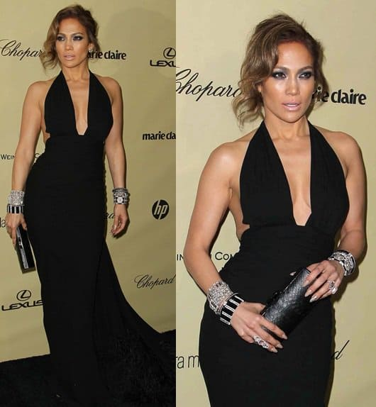 Jennifer Lopez Weinstein Company After Party Jan 13