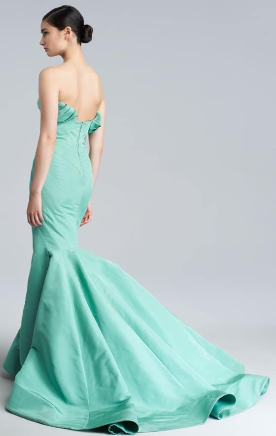Zac Posen Silk Faille Mermaid Gown